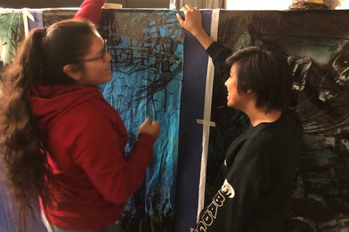 Students at Sunchild First Nation School hope homemade haunted house will attract celebrity attention