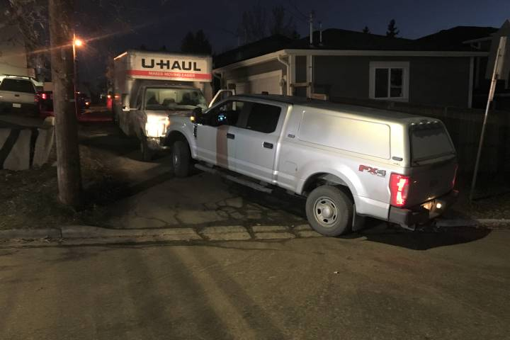 Driver arrested after U-Haul speeds through Calgary, crashing into parked vehicles: police