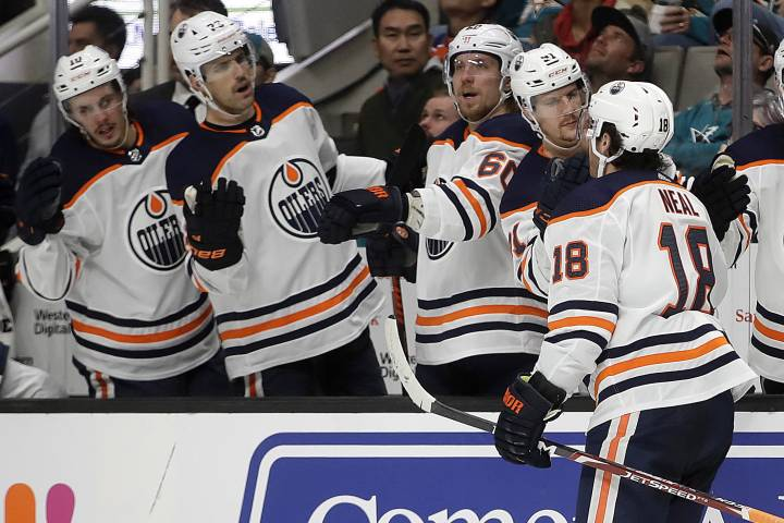 Edmonton Oilers feast on Sharks with 5-2 victory
