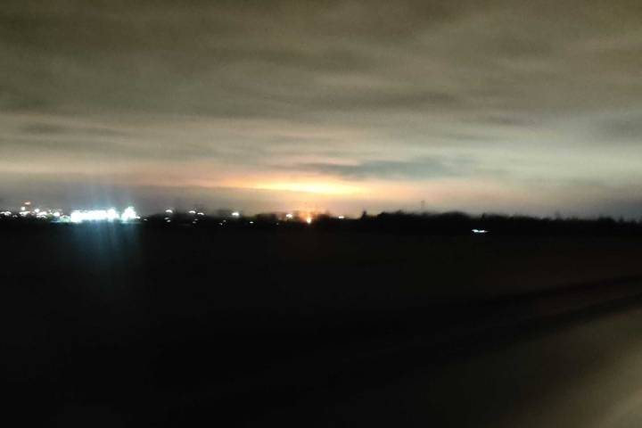 Flaring at Strathcona Refinery lights up sky over Edmonton