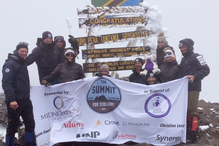 Mountain climbers raise more than $1M for the Stollery Children's Hospital