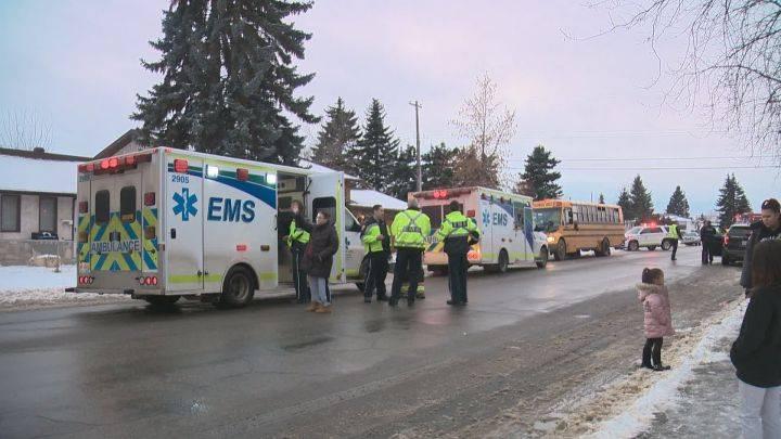 North Edmonton school bus crash sends 3 children to hospital