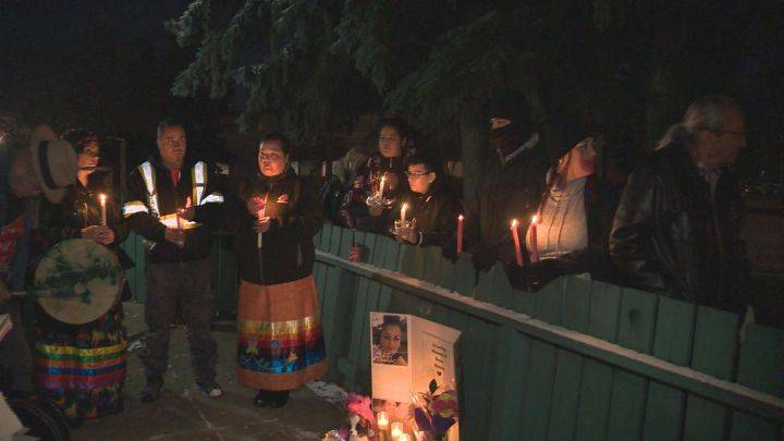 Vigil held to remember Alberta mother whose death is being investigated by Edmonton police