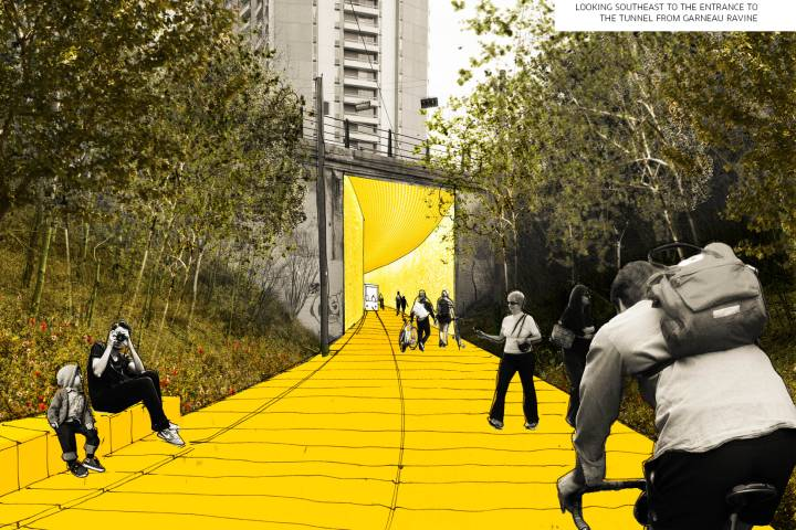 Edmonton's High Level Line park project moves slowly ahead, lowers funding request to city