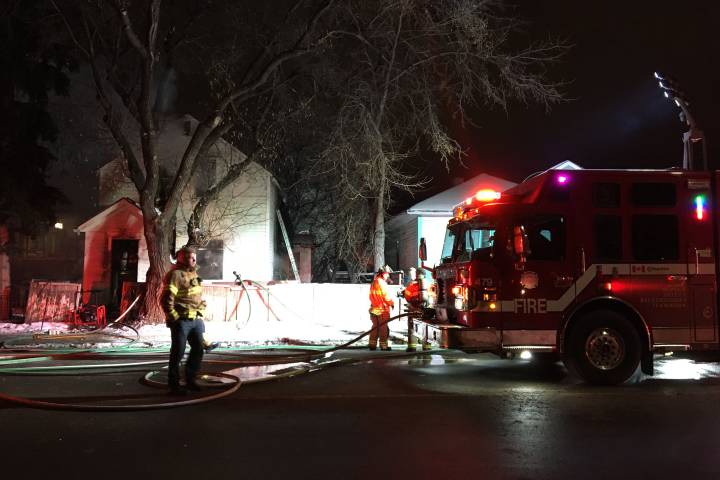Fire breaks out at another vacant home in central Edmonton
