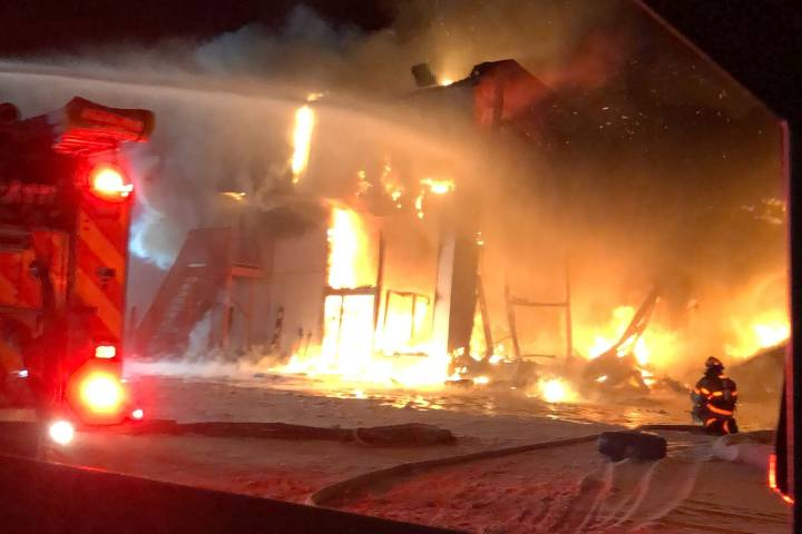 Fire destroys Edson Chrysler Dodge Jeep dealership west of Edmonton