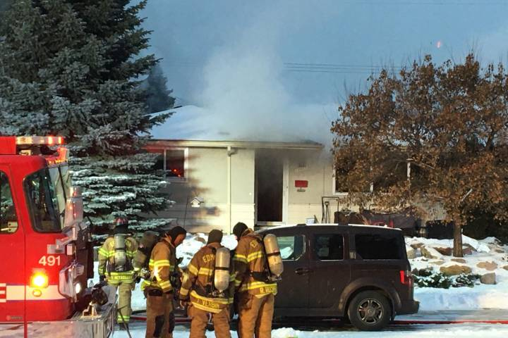 Firefighters battle blaze at home in west Edmonton