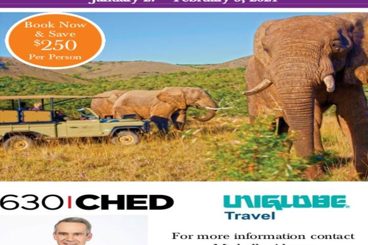 630 CHED – Information Night – Exploring South Africa, Victoria Falls, & Botswana