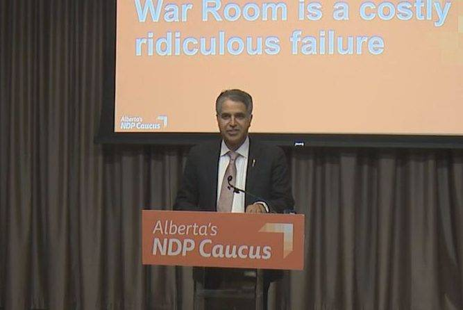 Alberta opposition says $30M energy war room a parade of errors, should be shut down