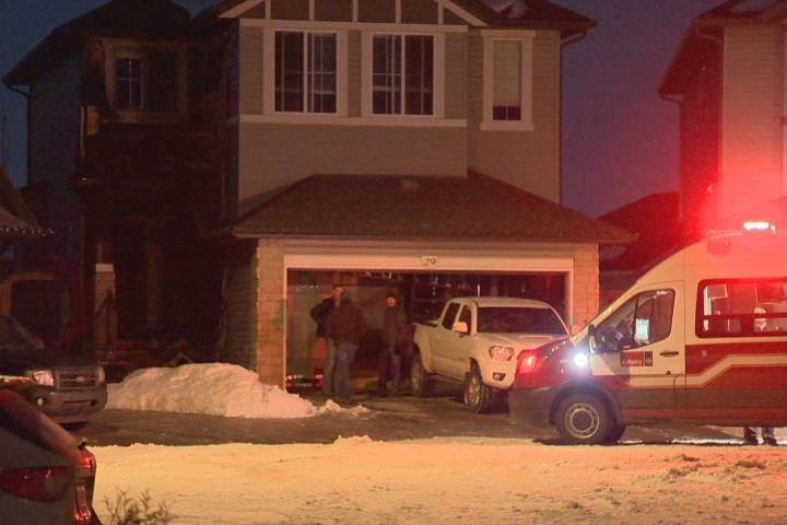 Calgary Fire Department knocks down house fire in Cranston
