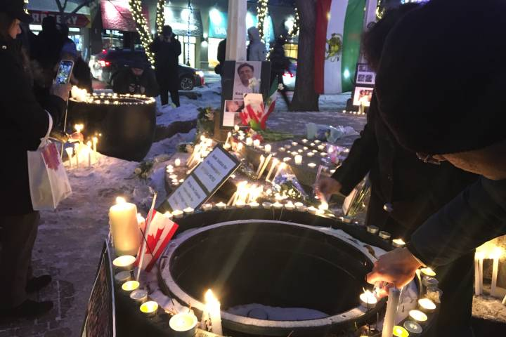 Candlelight vigil honouring Iran plane crash victims held in Calgary