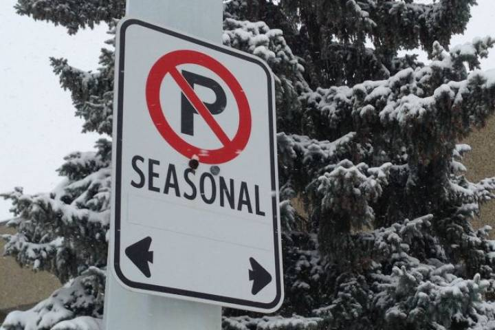 Edmonton's seasonal parking ban ends Saturday as cold sets in