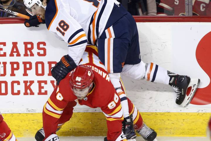 Edmonton Oilers end road trip with loss in Calgary