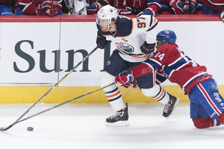 Edmonton Oilers start slow but rally to win in Montreal