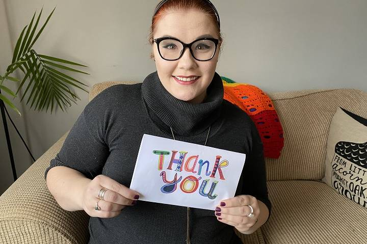 Edmonton woman giving thank you cards to Candy Cane Lane residents