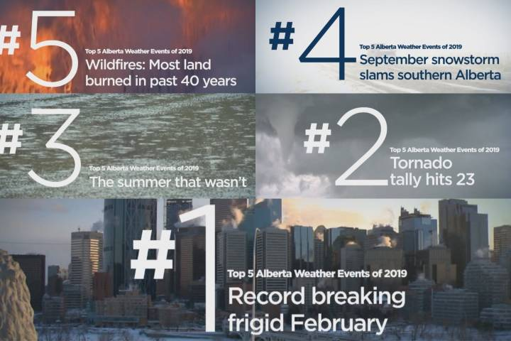 From destructive tornadoes to raging wildfires: top 5 Alberta weather stories of 2019