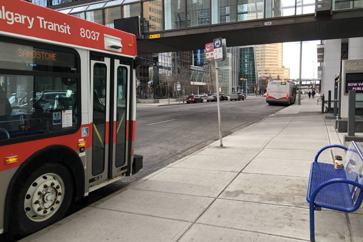 Man rushed to hospital after random attack at downtown Calgary bus stop
