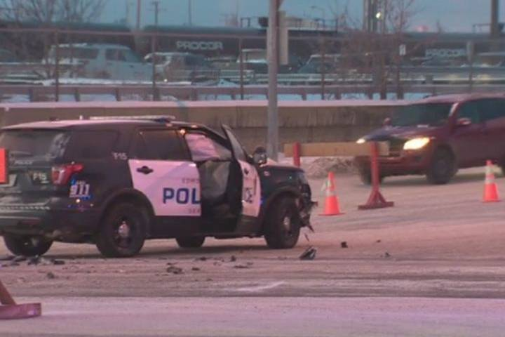 Road conditions believed to be factor in Edmonton crash involving police vehicle: EPS