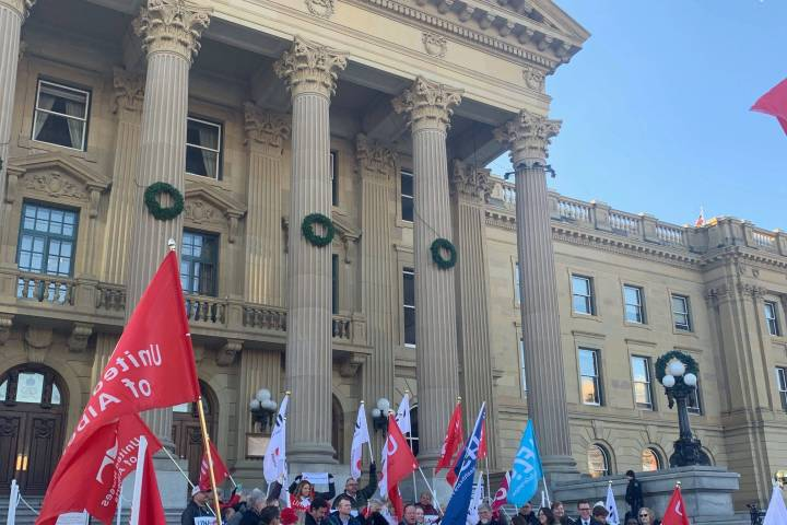 Alberta legislature rally planned to support public sector while budget is being tabled