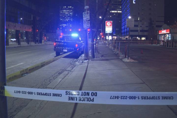 Calgary police investigate early-morning shooting in downtown core
