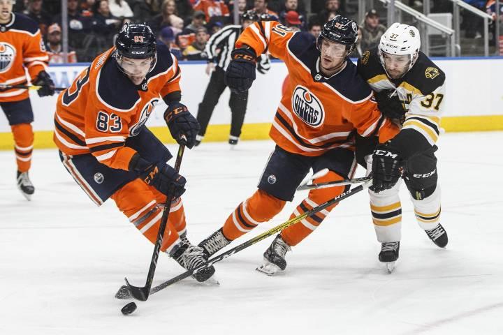 Depleted Edmonton Oilers settle for single point against Bruins