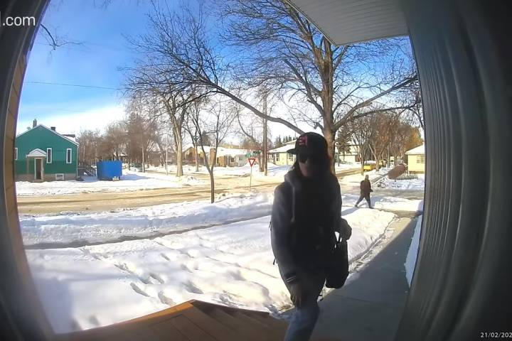 Doorbell camera captures porch pirate taken down by Edmonton police