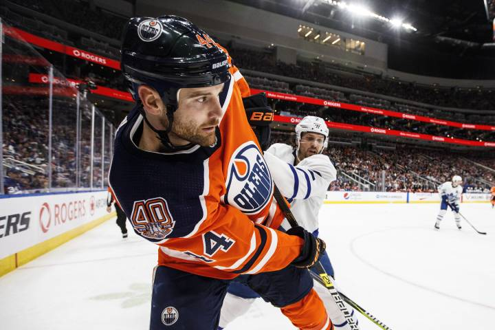 Edmonton Oilers' Zack Kassian awaiting decision after kick to chest of Tampa Bay Lightning's Erik Cernak