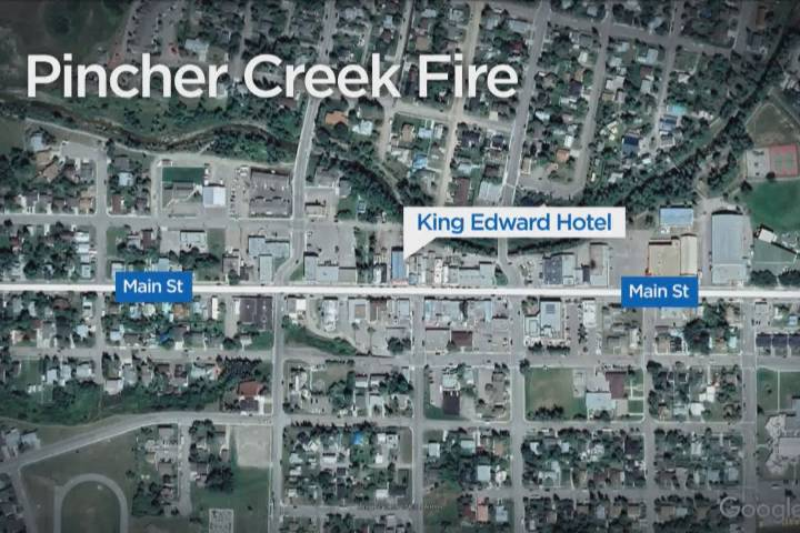 Emergency crews respond to fire at Pincher Creek hotel