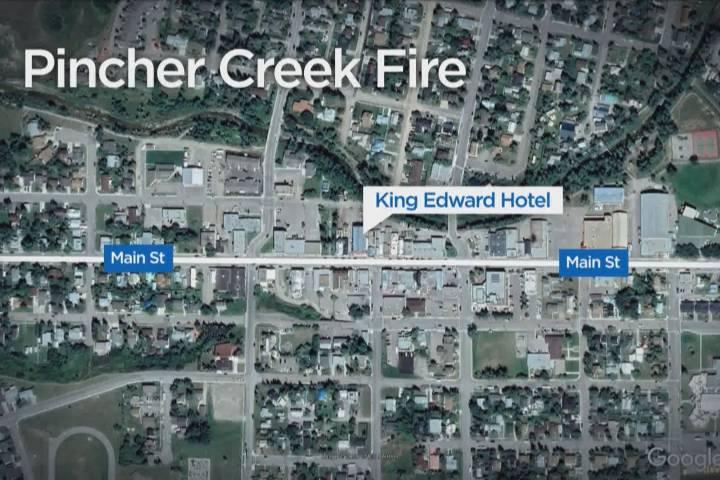 Emergency crews respond to fire at Pincher Creek hotel
