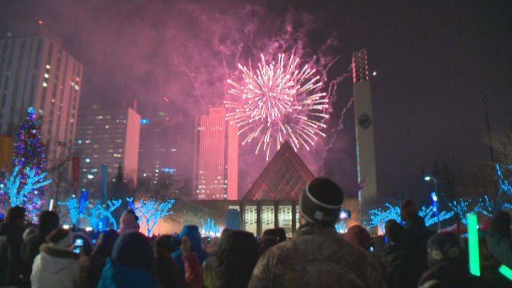 Midnight or 9 p.m.? City of Edmonton looking for feedback on New Year's Eve fireworks