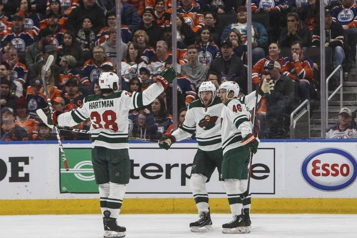 Minnesota Wild win at Rogers Place to sweep season series from Edmonton Oilers