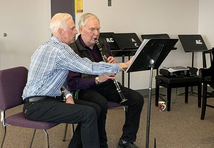 87-year-old MacEwan University student mastering 4 musical instruments