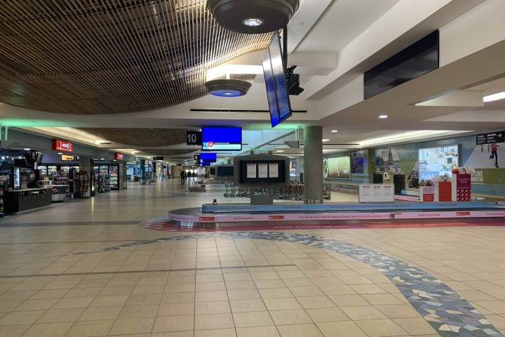 A look at how travel restrictions are affecting Edmonton International Airport: 'It's quiet'
