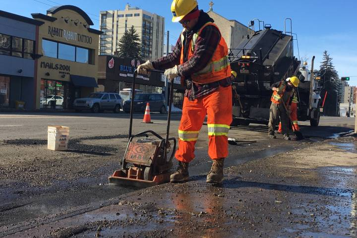 Edmonton road crews have filled more than 15,000 potholes this year