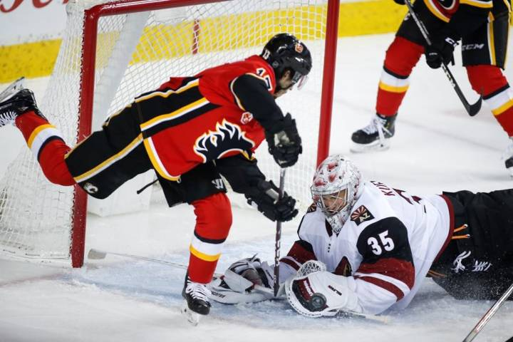 Flames edge Coyotes 3-2 in divisional win