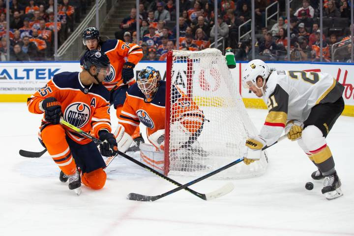 Koskinen stands tall but Edmonton Oilers lose to Vegas 3-2 in OT