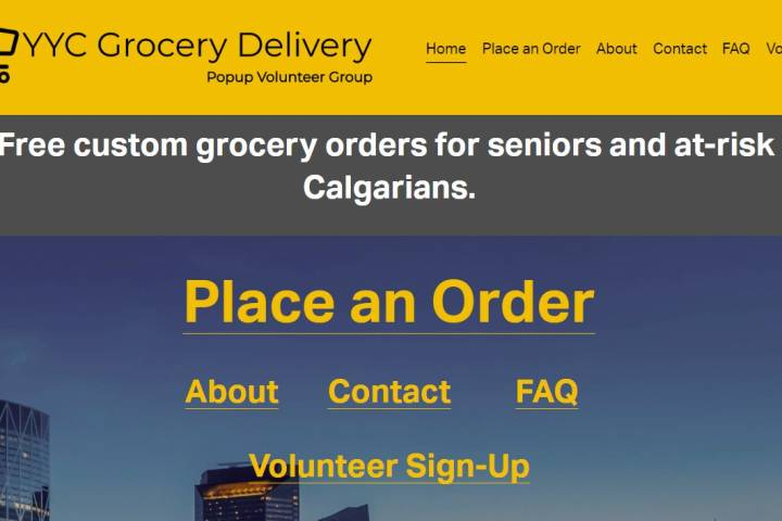 Calgary Cares: Helping seniors get the groceries they need during COVID-19 pandemic