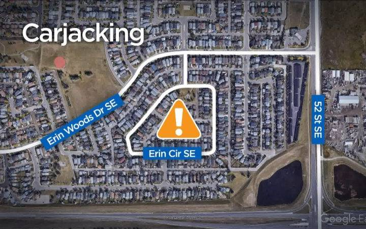 Calgary police investigating report of armed carjacking in Erin Woods