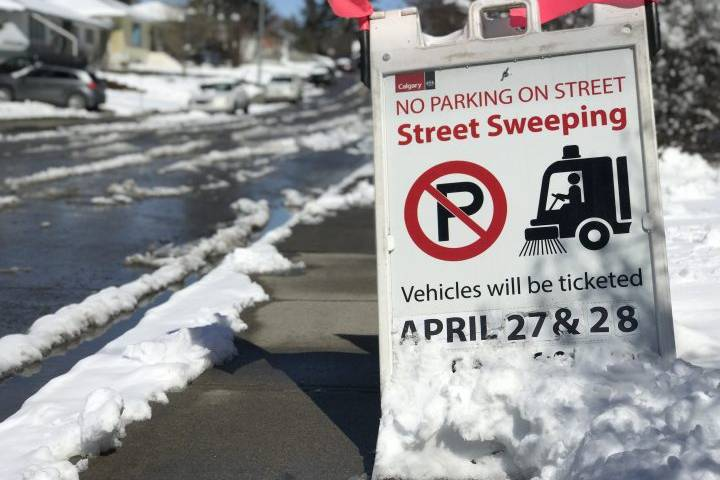Calgary spring street sweeping set to begin Monday