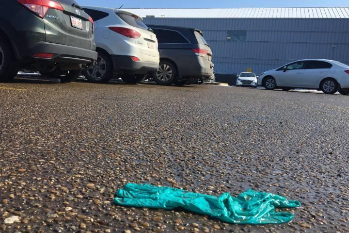 Coronavirus: Edmonton asked to address rubber glove-littering problem