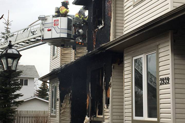 Family displaced by south Edmonton fourplex fire