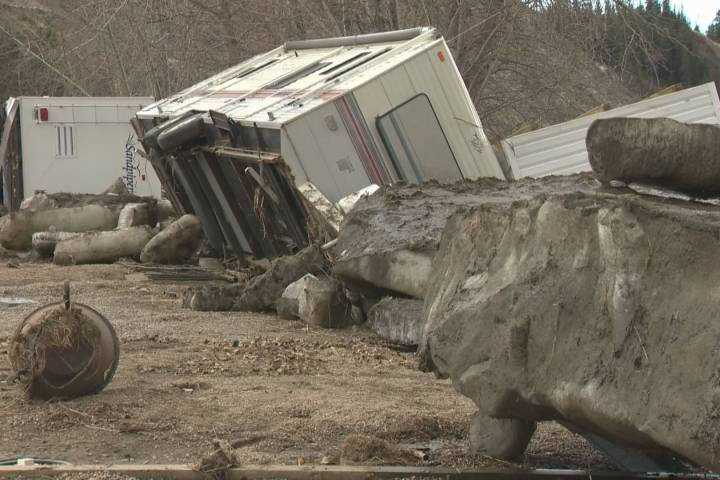 Ice jam destroys RV park and pulls 3 trailers into Red Deer River