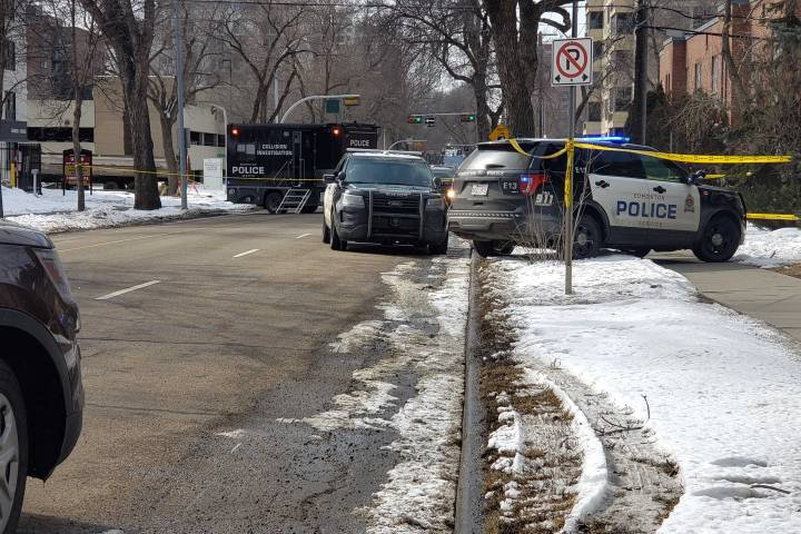 Man taken to hospital after being hit by police vehicle following chase in Edmonton