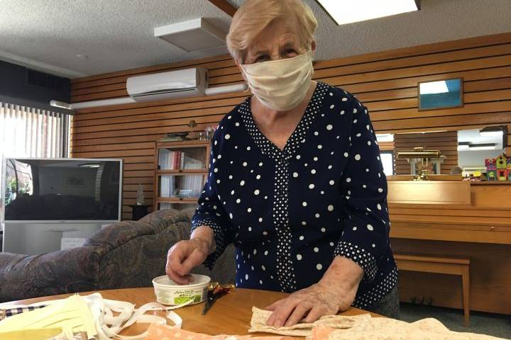 Veteran Calgary seamstress makes protective masks during pandemic: 'She's a queen'