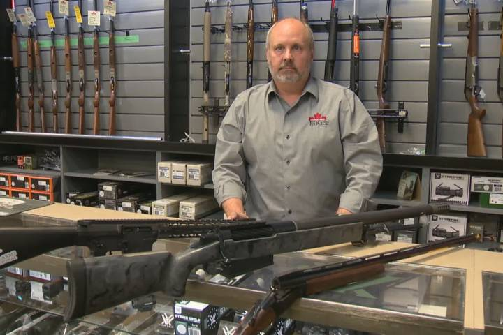 Calgary gun store launches legal challenge over national gun ban
