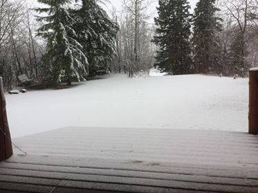 Communities surrounding Edmonton hit by May snowstorm