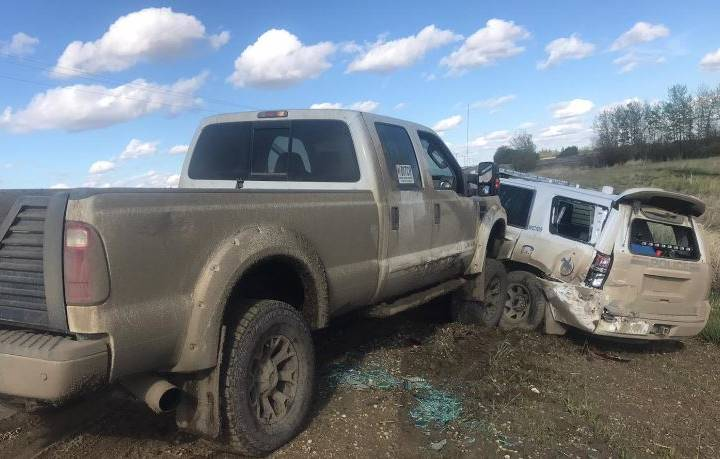 Impaired driving among charges after RCMP vehicle was rammed by truck