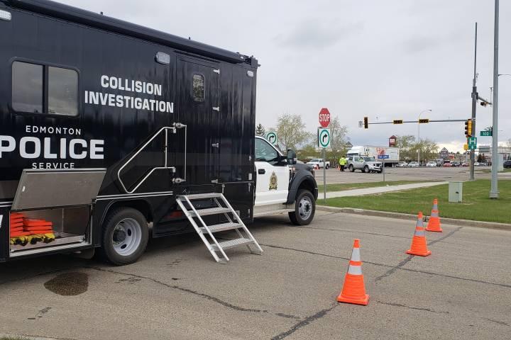 Police investigating 2-vehicle collision in northwest Edmonton