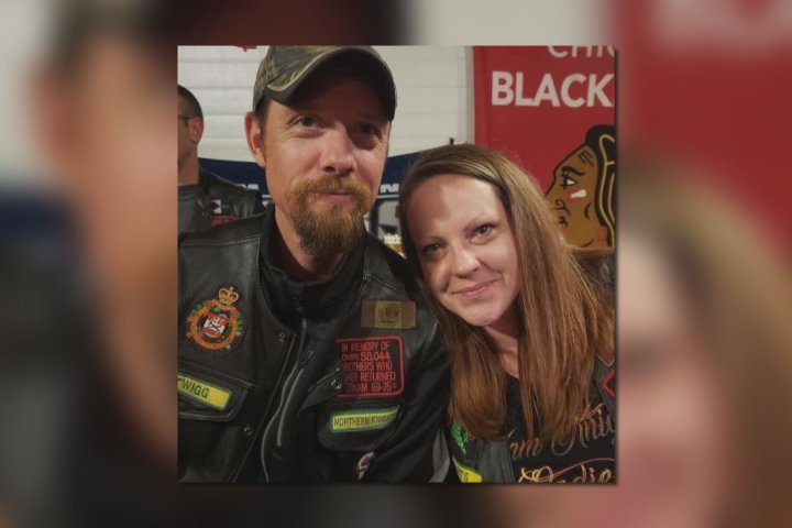 Edmonton couple killed in Friday crash remembered by local motorcycle, veteran communities
