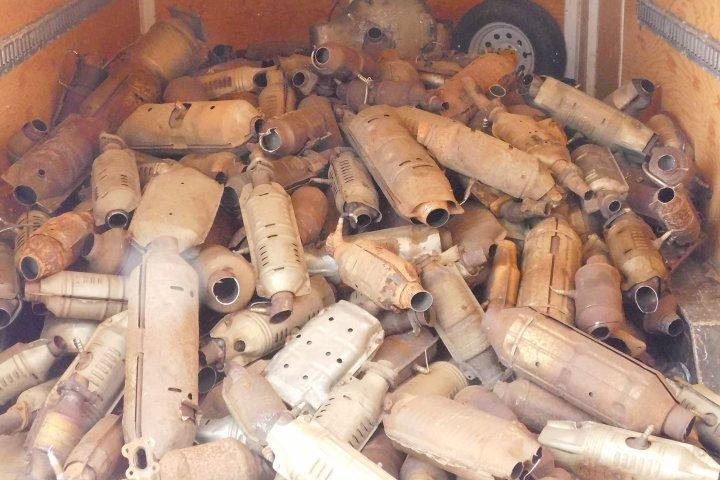Edmonton police seize 426 stolen catalytic converters, charge man